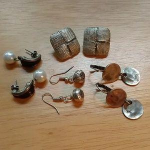 Silvertone earrings bundle